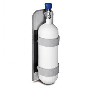 PAX Sauerstoffflaschenhalterung 0,8 L mit Beispiel Bestückung