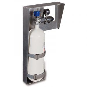 PAX Sauerstoffflaschenhalterung mit Beispiel Bestückung
