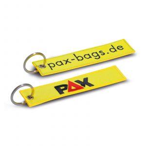 PAX-Schlüsselanhänger - tagesleuchtgelb