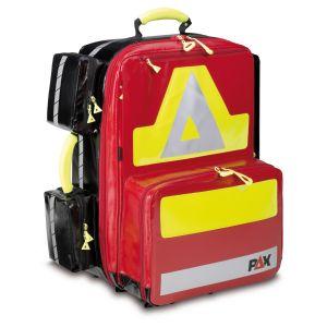 PAX Notfallrucksack Wasserkuppe L-ST-FT Frontansicht Farbe rot Material PAX Plane