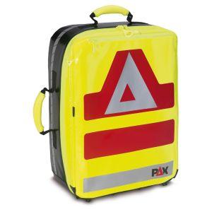PAX Notfallrucksack Wasserkuppe L, PAX-Plan, Farbe tagesleuchtgelb, Frontansicht.