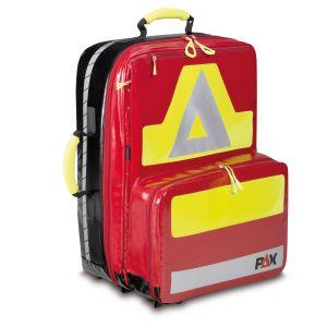 PAX Notfallrucksack Wasserkuppe L-FT Material PAX Plane Farbe rot. Frontansicht.
