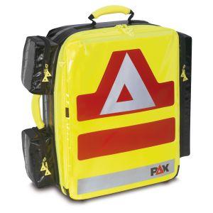 PAX Notfallrucksack Wasserkuppe L-ST, Frontansicht. Material PAX-Plan, Farbe tagesleuchtgelb.