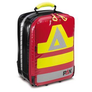 PAX SEG Rucksack klein, Material PAX-Plan, Farbe rot. Frontansicht geschlossen