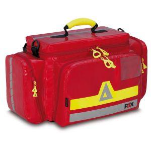 PAX Einsatzleitertasche, Farbe rot, Material PAX Plane, Frontansicht geschlossen.