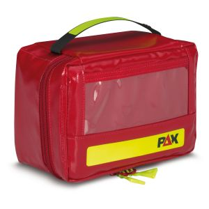 PAX Ampullarium XS, Frontansicht geschlossen, Material PAX-Tec, Farbe rot.