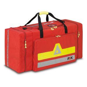 PAX Bekleidungstasche XL, Farbe rot, Frontansicht geschlossen.