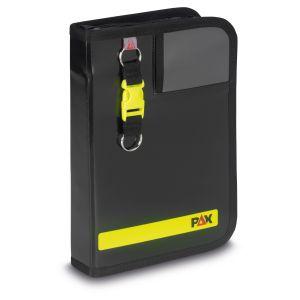 PAX Fahrtenbuch DIN A5-hoch Navitasche in der Farbe schwarz, Frontansicht.