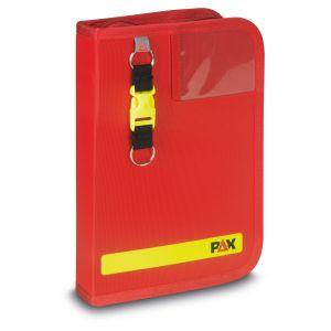 PAX Fahrtenbuch DIN A5 hoch, Farbe rot, Material PAX-Light, Frontansicht.