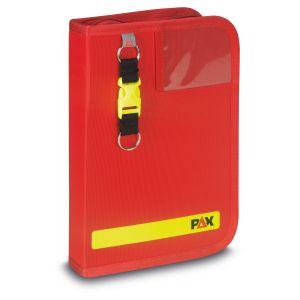 PAX Fahrtenbuch DIN A5-hoch Navitasche in der Farbe rot, Frontansicht.