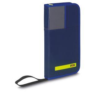 PAX Schlüsseltasche 20er in der Farbe blau, Frontansicht.