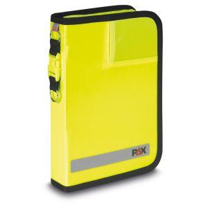 PAX Fahrtenbuch DIN A5-hoch Tablet in der Farbe tagseleuchtgelb, Frontansicht, Material PAX-Plan.