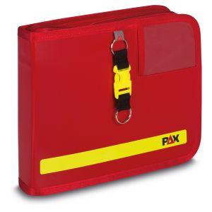 PAX Fahrtenbuch DIN A5-quer Navitasche in verschiedenen Ausführungen Frontansicht rot