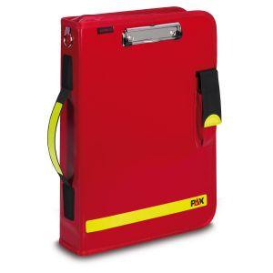 PAX Fahrtenbuch Multi-Organizer Tablet, Farbe rot, Material PAX-Plan, Frontansicht.