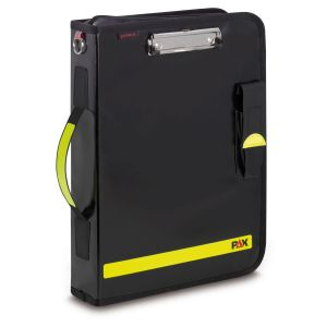PAX Fahrtenbuch-Multi-Organizer Tablet in der Farbe schwarz, Frontansicht