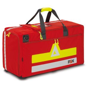 PAX Bekleidungstasche, Feuerwehr, Polizei, Rettungsdienst. Frontaufnahme PAX Bekleidungstasche rot.