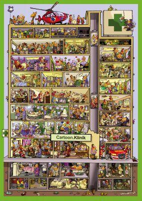 Cartoonposter Klinik