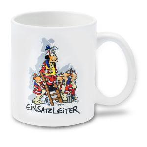 Cartoon-Tasse Einsatzleiter