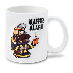 Medilearn, Cartoon, Tasse, Kaffeealarm, Kaffee, Alarm, Firefighter, Feuerwehrmann