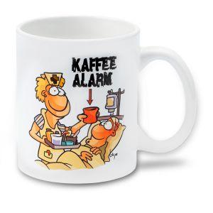 Medi Learn, Cartoon, Tasse, Kaffee Alarm