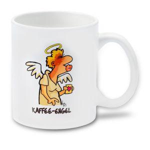 Cartoon-Tasse Kaffee-Engel