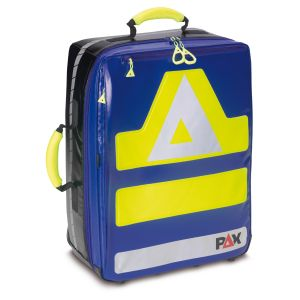 PAX Wasserkuppe magnetic in version L. Color blue, material PAX-Tec, front view closed.