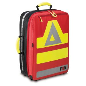 PAX emergency backpack Wasserkuppe, material PAX Tec, colour red, frontal view.