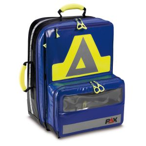 PAX Wasserkuppe L - AED, color blue, front view closed, material PAX-Tec.