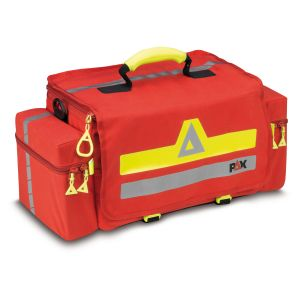 PAX emergency bag Essen, front view, color red, material PAX Dura, closed.