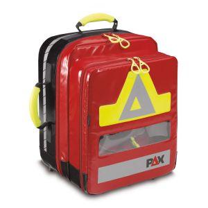 PAX Sanitätsrucksack Feldberg AED  Frontansicht Farbe rot PAX-Plane