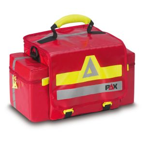 PAX emergency bag First Responder 2019, color red, closed, front view, material PAX Plan.
