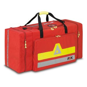 PAX clothing bag XL, colour red, front view closed.