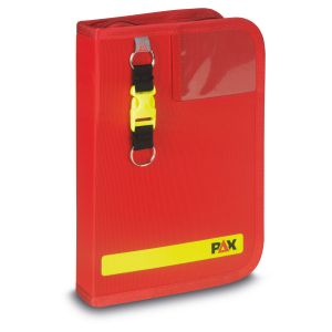PAX logbook DIN A5-high navi-bag in the color red, front view.