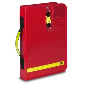 PAX logbook DIN A4 portrait - 2019, color red, material PAX-Plan, front view.