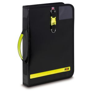 PAX logbook DIN A4-high in colour black, front view