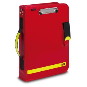 PAX Logbook Multi-Organizer Tablet, color red, material PAX-Plan, front view.