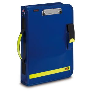 PAX Logbook Multi-Organizer Tablet, color blue, material PAX-Plan, front view.