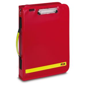 PAX Logbook Multi Organizer 2019, front view, color red, material PAX-Plan.