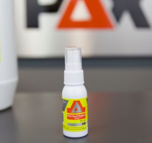 Our alcoholic PAX hand hygiene gel in the practical spray bottle with aloe vera is ideal for private and surgical hand disinfection.