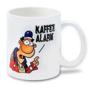 Medi Learn, Cartoon, Tasse, Kaffe Alarm